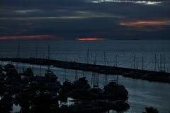 Яхта Марины взгляда Стоковая Фотография