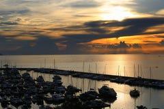 Яхта Марины взгляда Стоковое Изображение