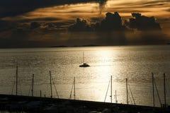 Яхта Марины взгляда Стоковое фото RF