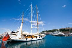 яхта Монако стоковое фото