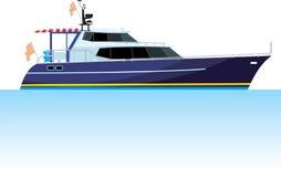 Яхта мотора иллюстрация вектора