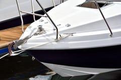 Яхта на гавани Стоковое Изображение