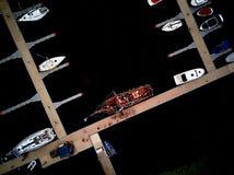 Яхта на гавани Стоковые Изображения RF