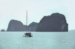 Яхта на море andaman Стоковое фото RF