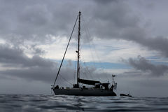 Яхта на океане Стоковые Фото