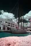 Яхта океана на набережной Стоковое Изображение