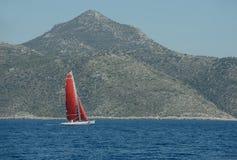 Яхта плавания скорости Стоковая Фотография RF