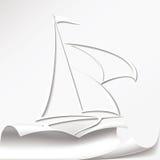 Яхта режет бумагу Стоковое Изображение