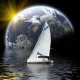 яхта спорта моря планеты Стоковое фото RF