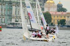 Яхта спорт гонки Стоковые Фото