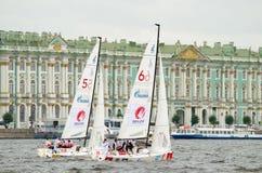 Яхта спорт гонки Стоковое фото RF