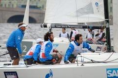 Яхта спорт гонки Стоковое Фото