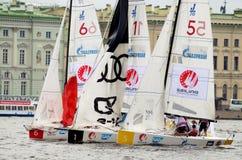 Яхта спорт гонки Стоковая Фотография