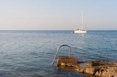Яхта утеса лестниц Стоковое фото RF