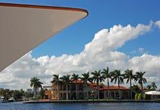 яхта хором смычка роскошная Стоковые Изображения RF