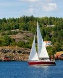 Яхта Швеция ветрила стоковые фото