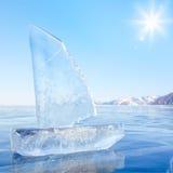 Яхта льда на зиме Baical Стоковые Изображения RF