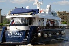 Яхта Pallada от Санкт-Петербурга на отверстии навигации season-2018 Стоковое фото RF