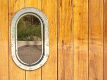 яхта porthole деревянная Стоковые Фото