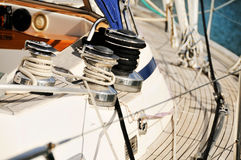 яхта sailing детали Стоковая Фотография