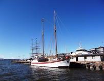 яхта sailing порт Стоковые Фото