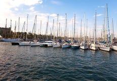 Яхты в гавани Барселоны стоковая фотография rf