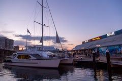 Яхты в гавани милочки Сиднея Стоковое Фото