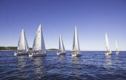 Яхты в море Стоковые Изображения