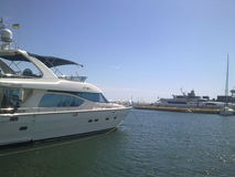 Яхты в порте на побережье Чёрного моря Стоковая Фотография RF