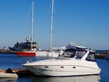 Яхты в порте Стоковое Фото