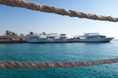 Яхты в порте Стоковые Изображения RF