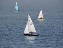 Яхты гонок на регате Стоковое Изображение