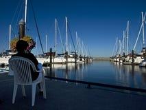 яхты женщины Стоковое Фото