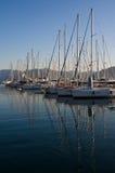 яхты захода солнца Стоковое Изображение