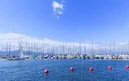 Яхты и шлюпки на порте Ouchy Стоковая Фотография