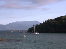 яхты моря тропические стоковое фото