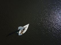 Яхты на море, виде с воздуха стоковое изображение rf