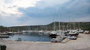 Яхты на порте Стоковое Фото