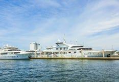 Яхты на стороне портового района в Fort Lauderdale стоковое фото