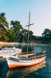 Яхты причаленные в заливе Стоковое фото RF