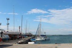 Яхты с высокорослыми рангоутами Стоковое фото RF