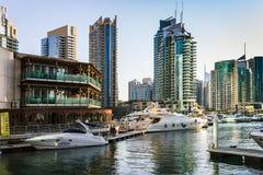Яхт-клуб в Марине Дубай. ОАЭ. 16-ое ноября 2012 Стоковые Изображения RF