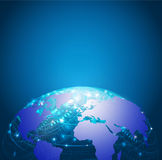 Ячеистая сеть, вектор & иллюстрация технологии мира Стоковые Изображения