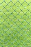 Ячеистая сеть или клетка стали зеленой лужайки в саде Стоковые Изображения RF
