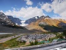 Яшма ледника Колумбии Icefield Athabasca стоковые изображения rf