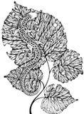 ящерица листьев Стоковые Изображения RF