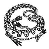 ящерица стилизованная Стоковая Фотография RF