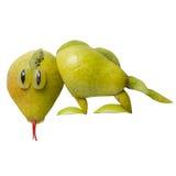 Ящерица сделанная из груши Стоковое Изображение