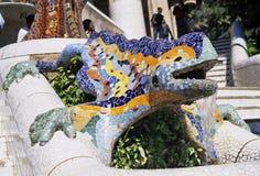 ящерица фонтана Стоковая Фотография