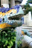 ящерица фонтана barcelona Стоковые Изображения